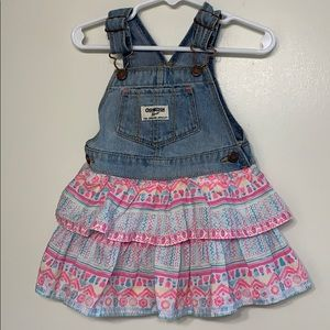 Osh Kosh | Baby Girl Overall Dress - 18 Months